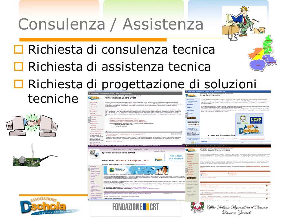 Richiesta di consulenza tecnica Richiesta di assistenza tecnica Richiesta di progettazione di soluzioni tecniche Consulenza / Assistenza