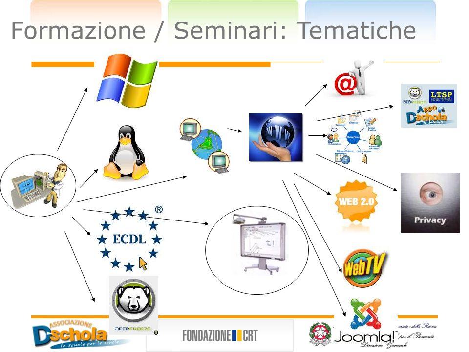 Formazione / Seminari: Tematiche