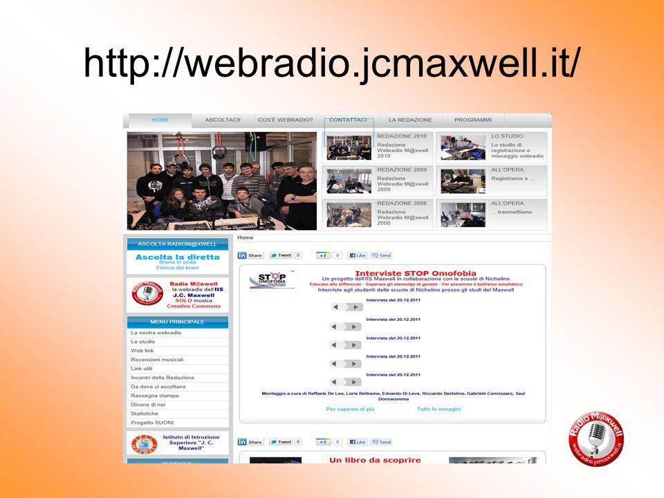 http://webradio.jcmaxwell.it/ Che tipo di programmi realizza.