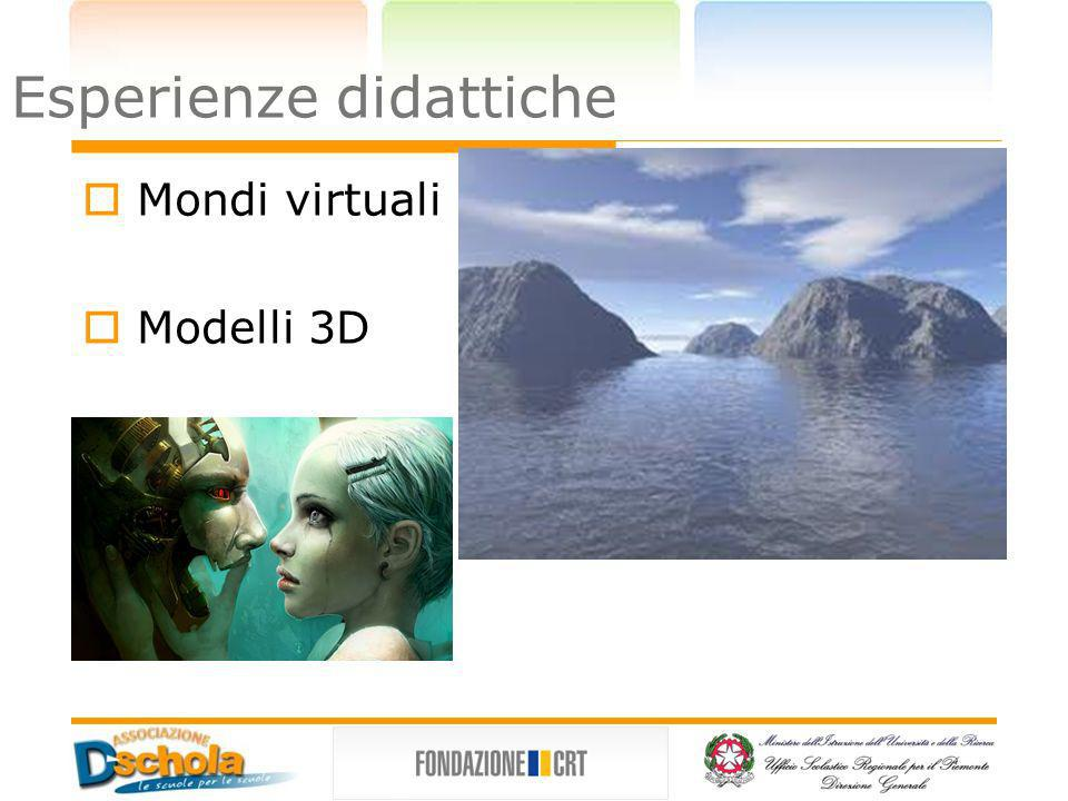 Applicazioni 3d Blender T.E.D 3D Studio Max Esperienze didattiche