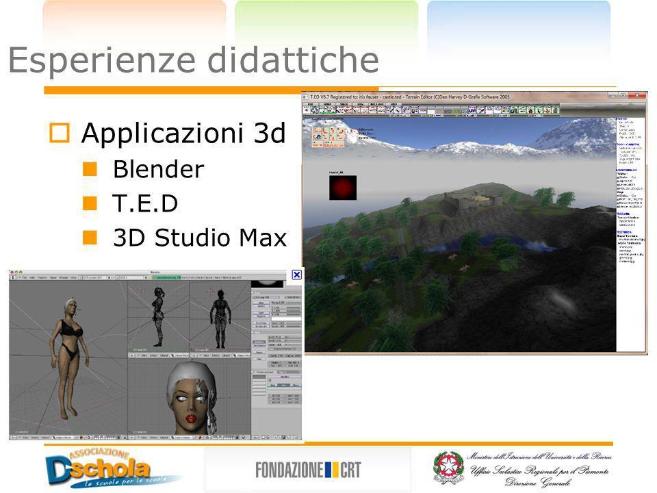 3DRad Introduzione ai game engine Oggetti dotati di proprietà fisiche Linguaggio di script c like