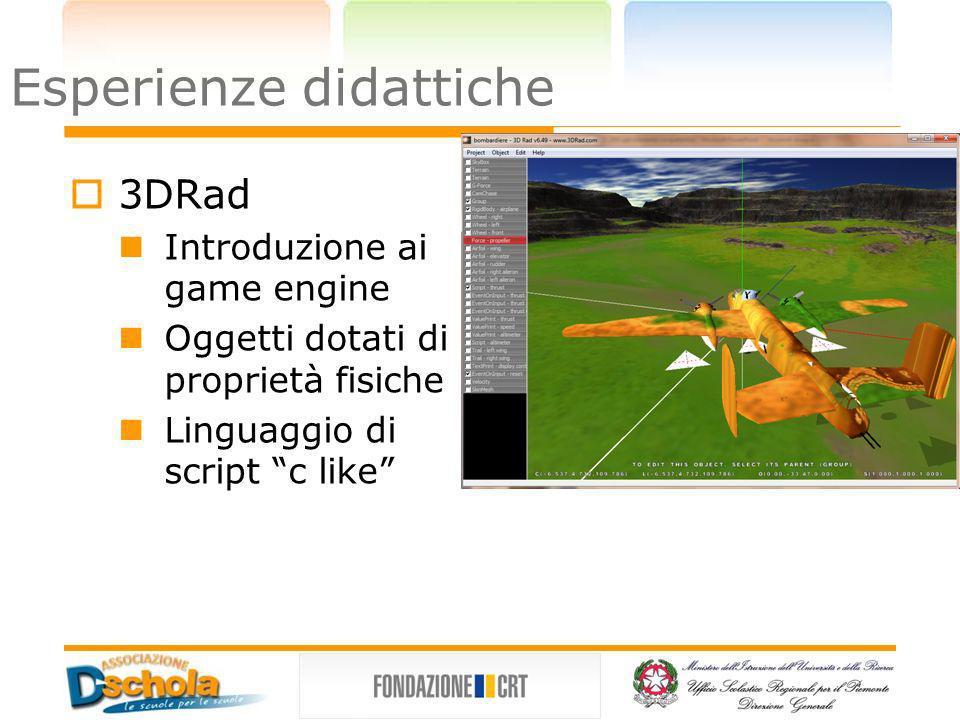 Esperienze didattiche Dark Basic Linguaggio procedurale Sintassi relativamente semplice Libreria basata su DirectX