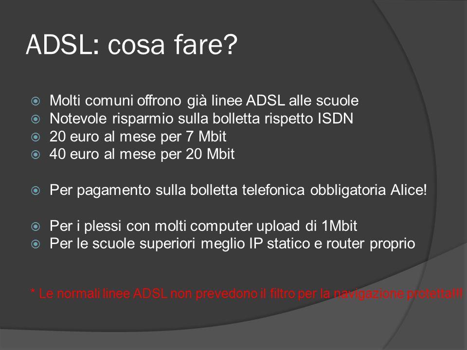 ADSL: cosa fare.