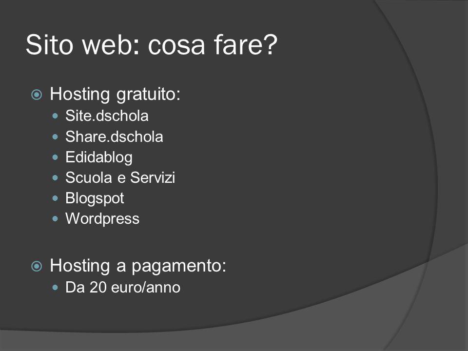 Sito web: cosa fare.