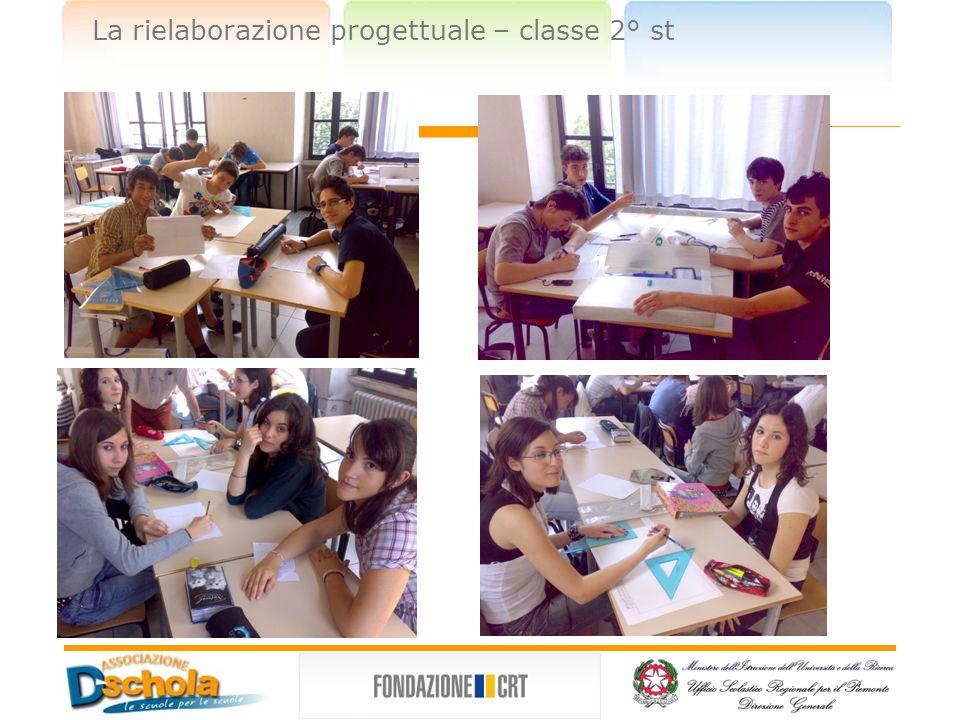 La rielaborazione progettuale – classe 2° st