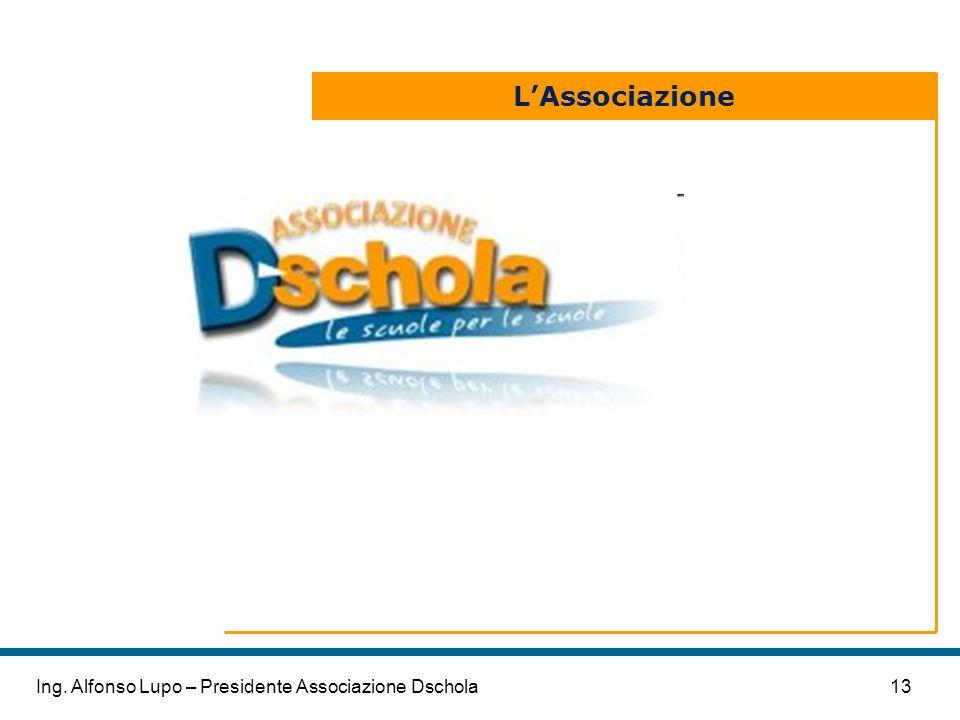 13Ing. Alfonso Lupo – Presidente Associazione Dschola LAssociazione