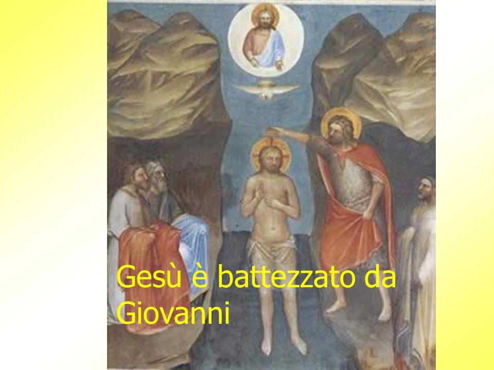 Gesù è battezzato da Giovanni