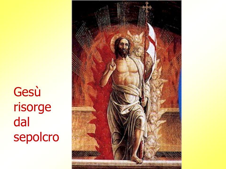 Gesù risorge dal sepolcro