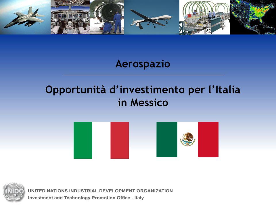 Aerospazio Opportunità dinvestimento per lItalia in Messico