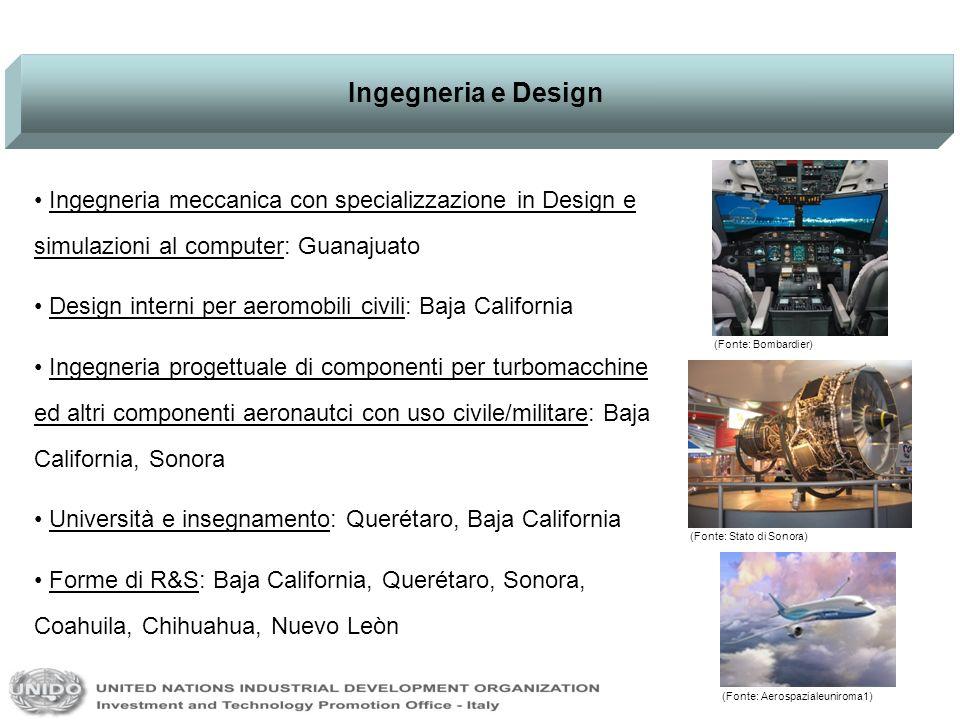 Ingegneria e Design Ingegneria meccanica con specializzazione in Design e simulazioni al computer: Guanajuato Design interni per aeromobili civili: Ba