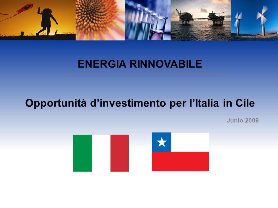 ENERGIA RINNOVABILE Opportunità dinvestimento per lItalia in Cile Junio 2009