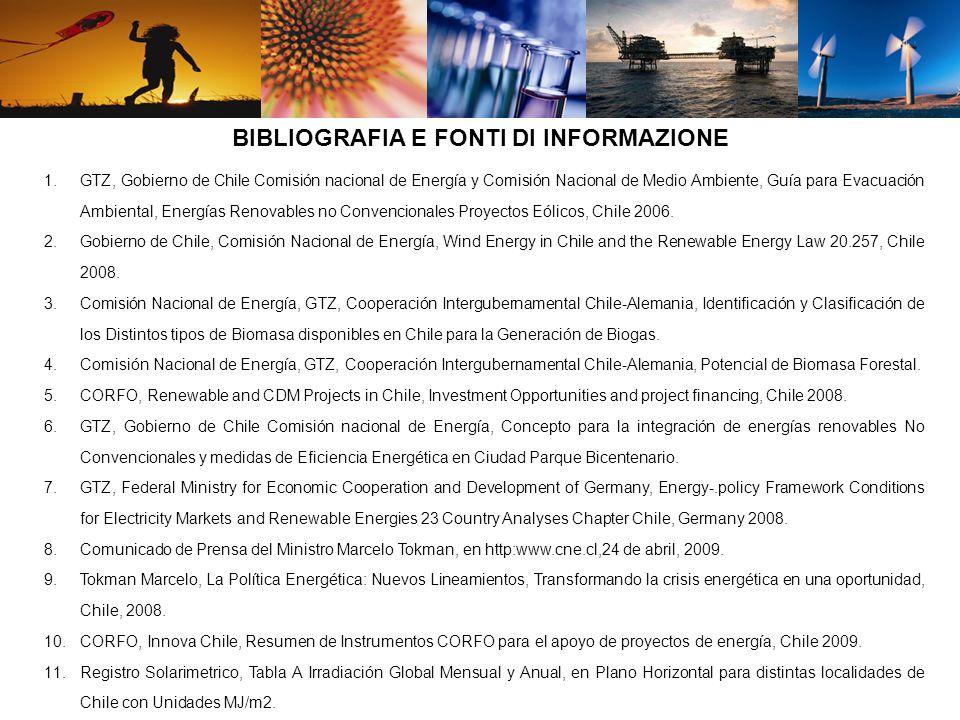 1.GTZ, Gobierno de Chile Comisión nacional de Energía y Comisión Nacional de Medio Ambiente, Guía para Evacuación Ambiental, Energías Renovables no Convencionales Proyectos Eólicos, Chile 2006.