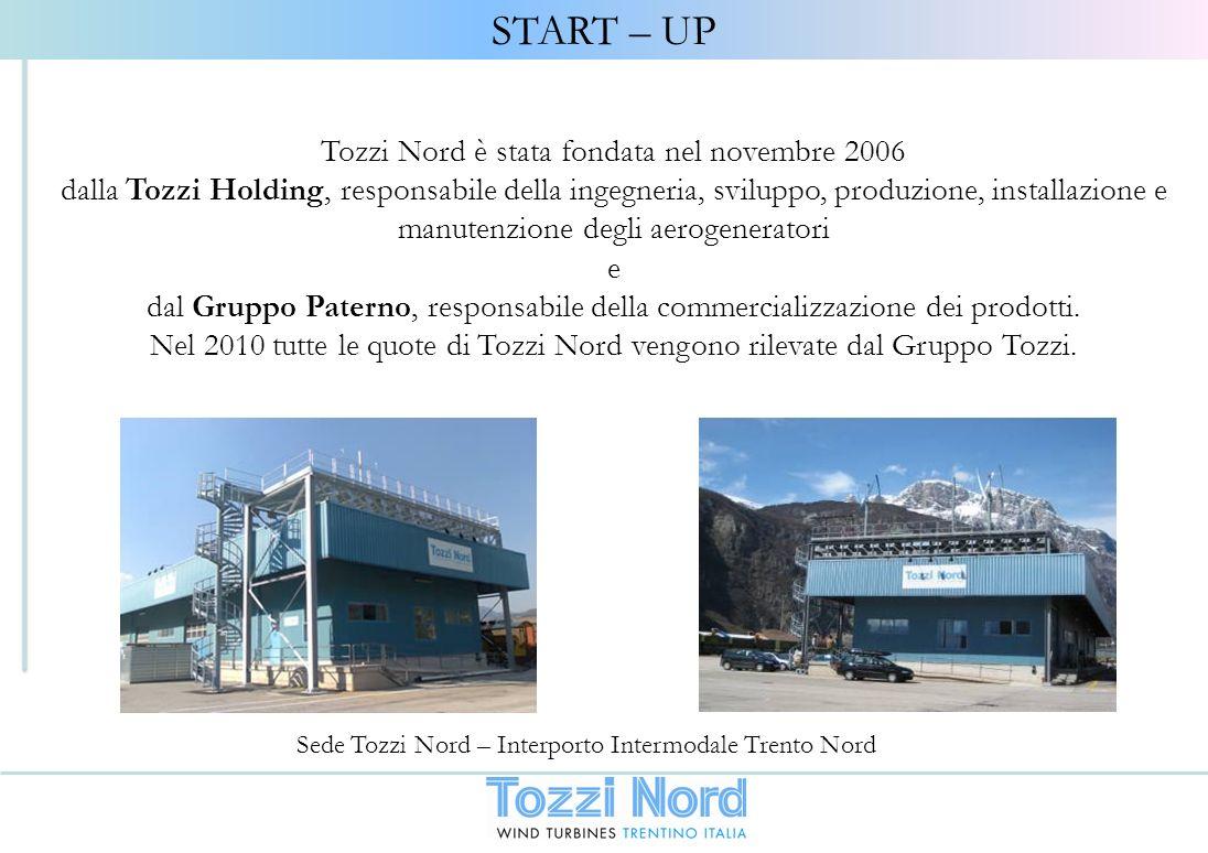 Tozzi Nord è stata fondata nel novembre 2006 dalla Tozzi Holding, responsabile della ingegneria, sviluppo, produzione, installazione e manutenzione de
