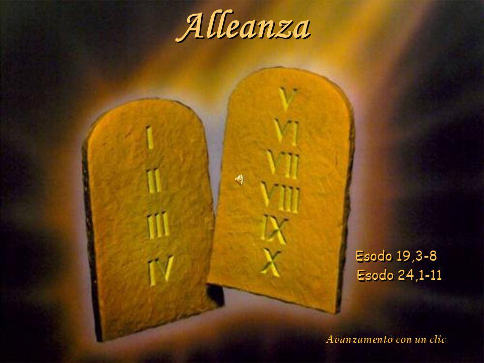 Alleanza Esodo 19,3-8 Esodo 24,1-11 Alleanza Esodo 19,3-8 Esodo 24,1-11 Avanzamento con un clic