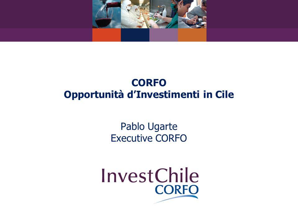 CORFO Opportunità dInvestimenti in Cile Pablo Ugarte Executive CORFO