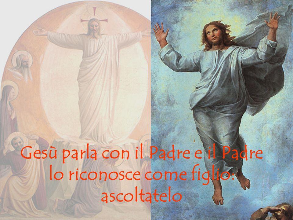 Gesù parla con il Padre e il Padre lo riconosce come figlio: ascoltatelo