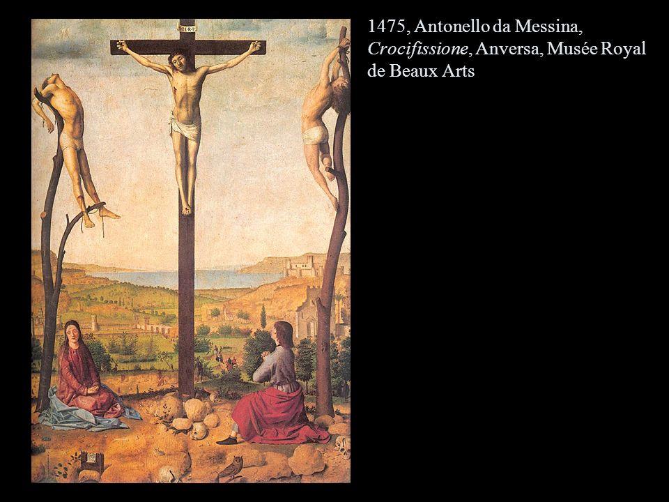 1475, Antonello da Messina, Crocifissione, Anversa, Musée Royal de Beaux Arts