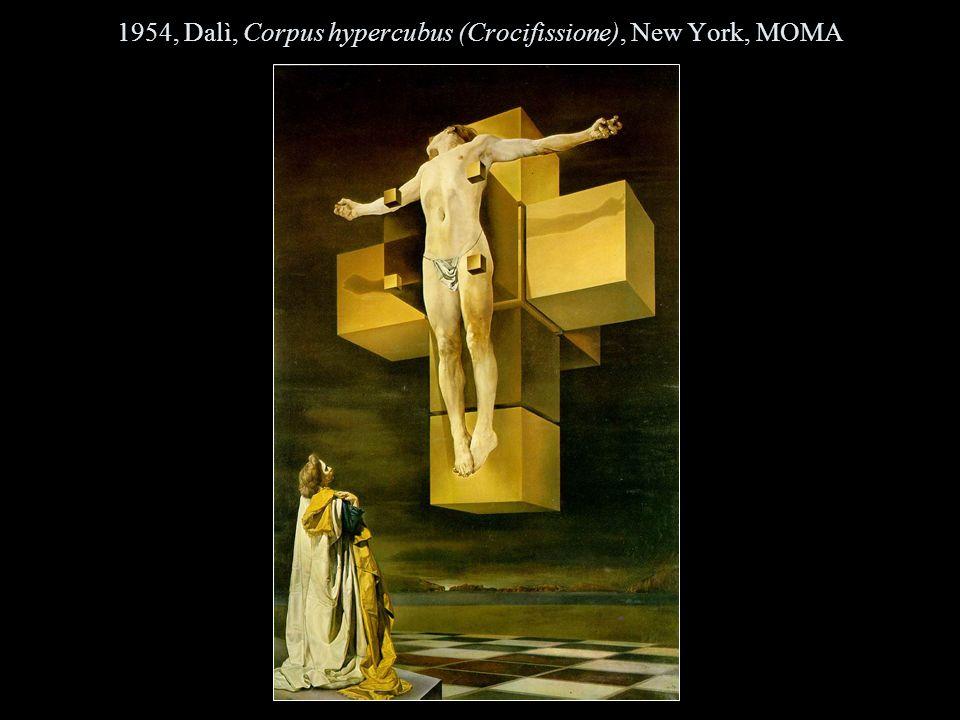 1954, Dalì, Corpus hypercubus (Crocifissione), New York, MOMA