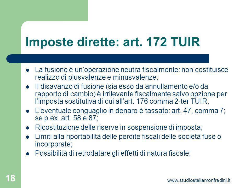www.studiostellamonfredini.it 18 Imposte dirette: art.