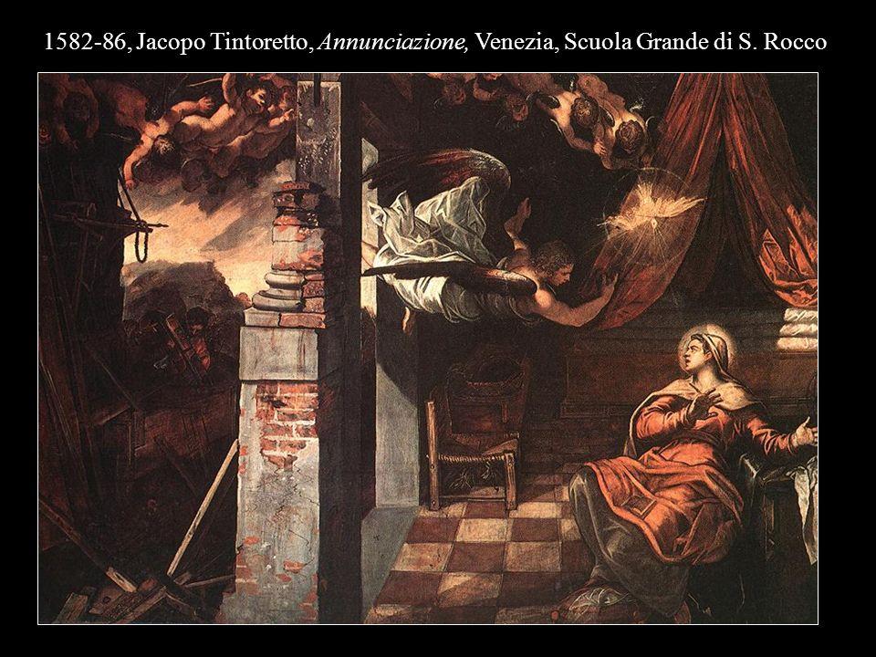 1582-86, Jacopo Tintoretto, Annunciazione, Venezia, Scuola Grande di S. Rocco