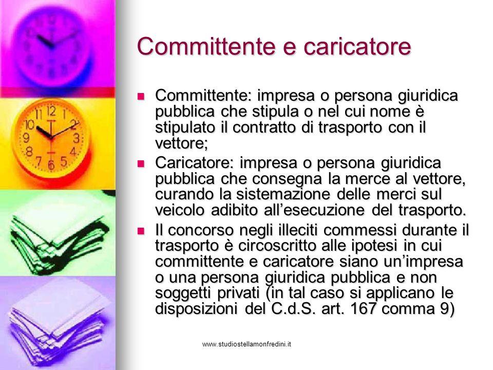 www.studiostellamonfredini.it Committente e caricatore Committente: impresa o persona giuridica pubblica che stipula o nel cui nome è stipulato il con