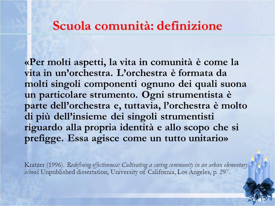 «Per molti aspetti, la vita in comunità è come la vita in unorchestra.