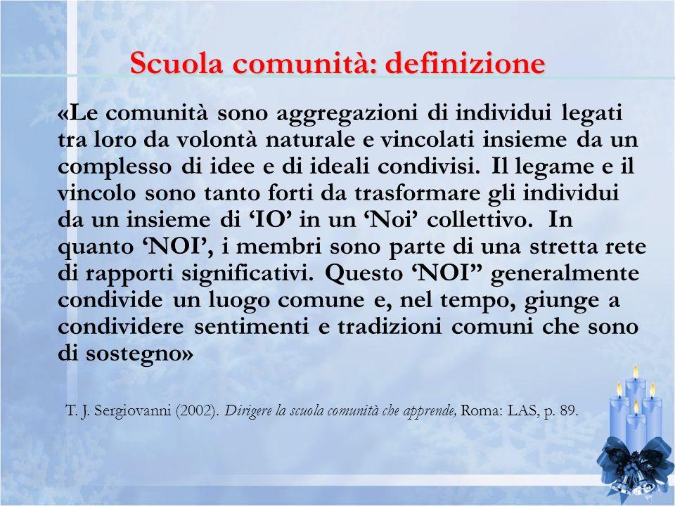 «Le comunità sono aggregazioni di individui legati tra loro da volontà naturale e vincolati insieme da un complesso di idee e di ideali condivisi.