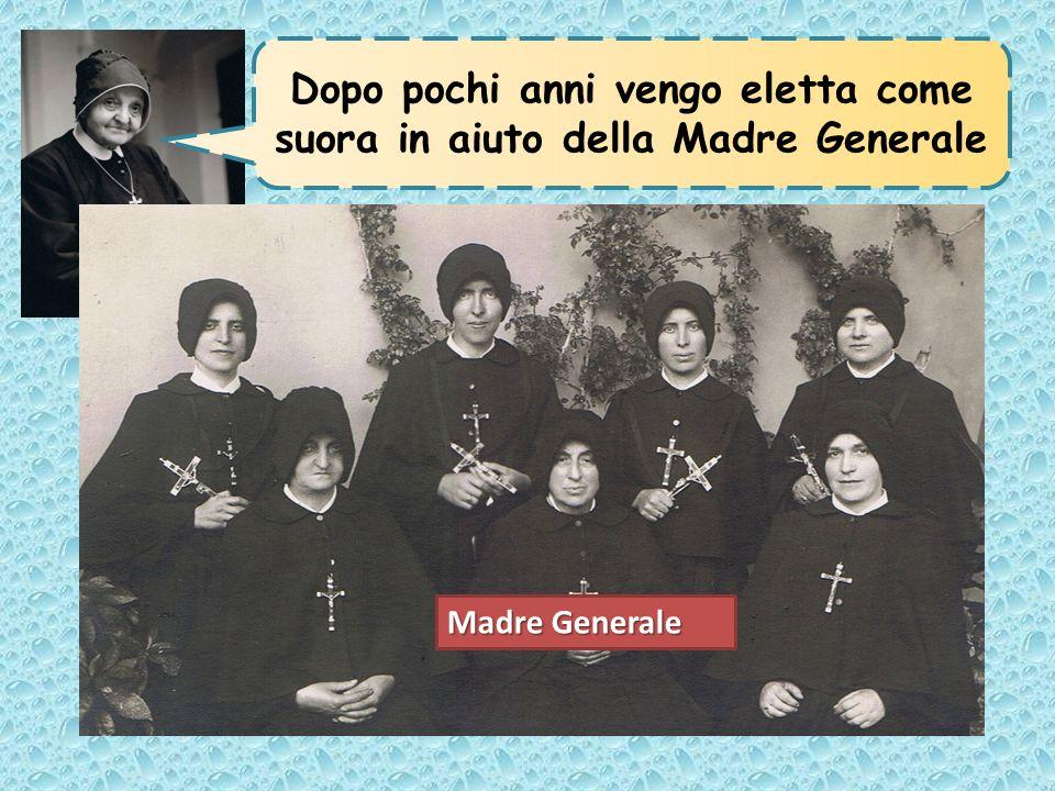 Dopo pochi anni vengo eletta come suora in aiuto della Madre Generale Madre Generale