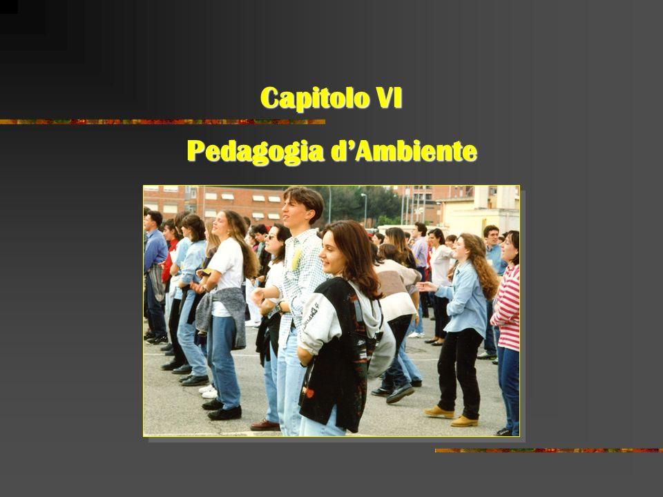 Capitolo VI Pedagogia dAmbiente