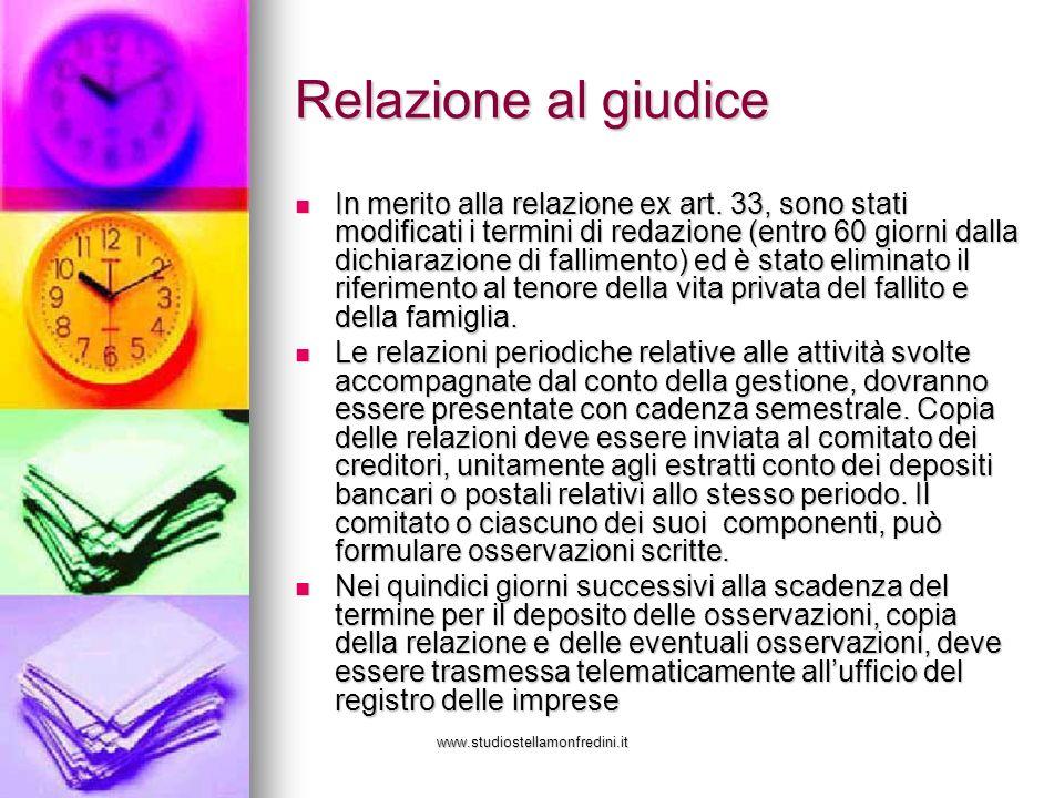 www.studiostellamonfredini.it Relazione al giudice In merito alla relazione ex art.