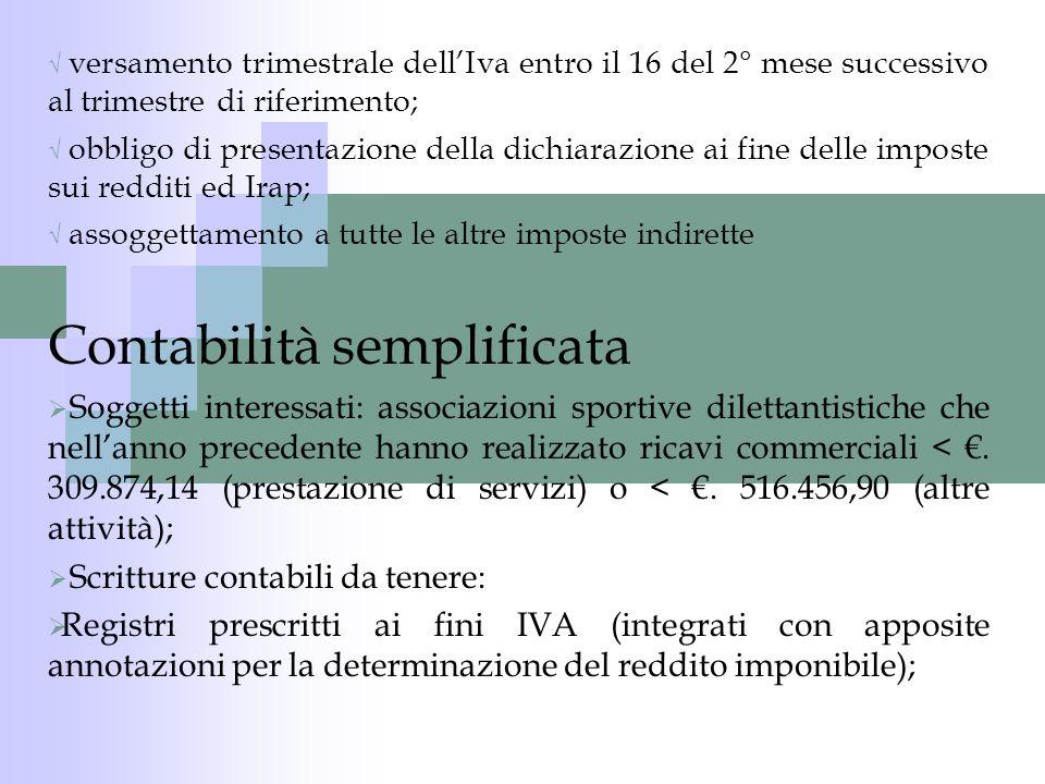 Studio societario tributario Stella Monfredini Raccolte di fondi: trattasi di raccolte pubbliche di fondi per finanziare la propria attività o un determinato progetto (ad esempio la ristrutturazione della palestra.
