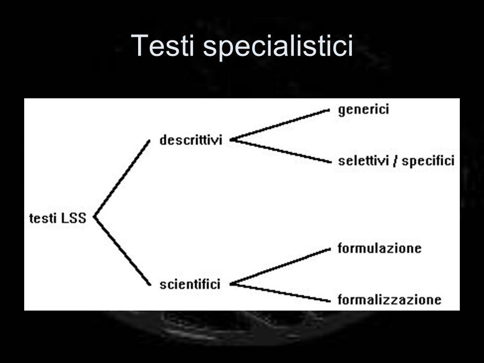 Testi specialistici
