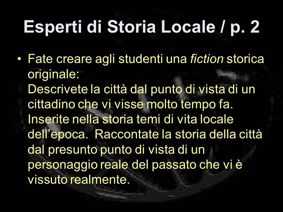 Esperti di Storia Locale / p.