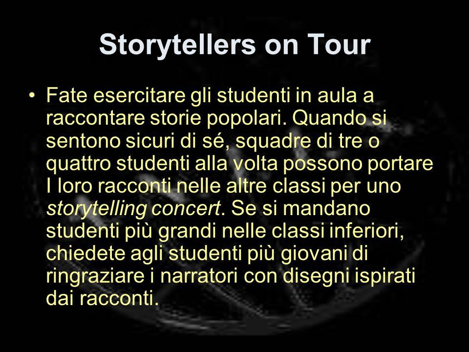 Storytellers on Tour Fate esercitare gli studenti in aula a raccontare storie popolari.