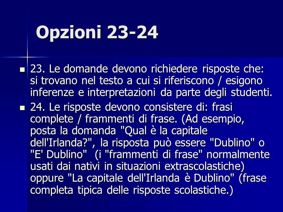 Opzioni 23-24 23.
