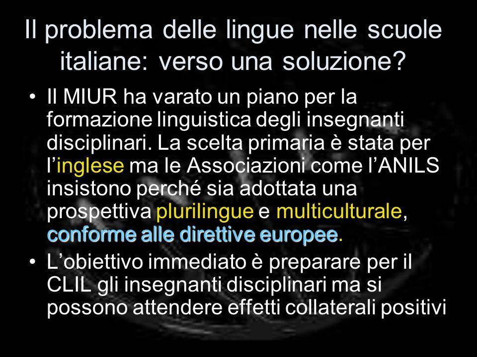 Il problema delle lingue nelle scuole italiane: verso una soluzione.