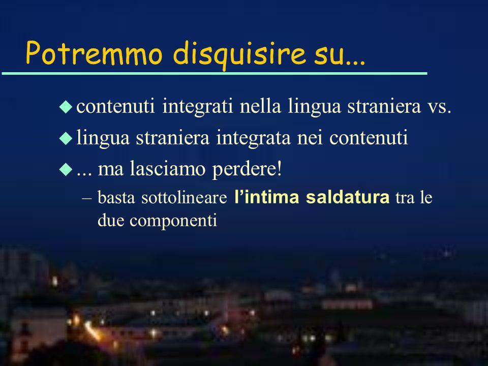 Quali temi u Esperienze CLIL in Lombardia: –chimica –storia dellArte –informatica, ecc.