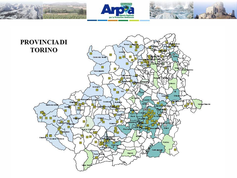 Al fine di individuare correttamente i siti di posizionamento sono state individuate le aree oggetto di localizzazione di impianti a seguito di una valutazione teorica del livelli di campo in condizioni di massima potenza.