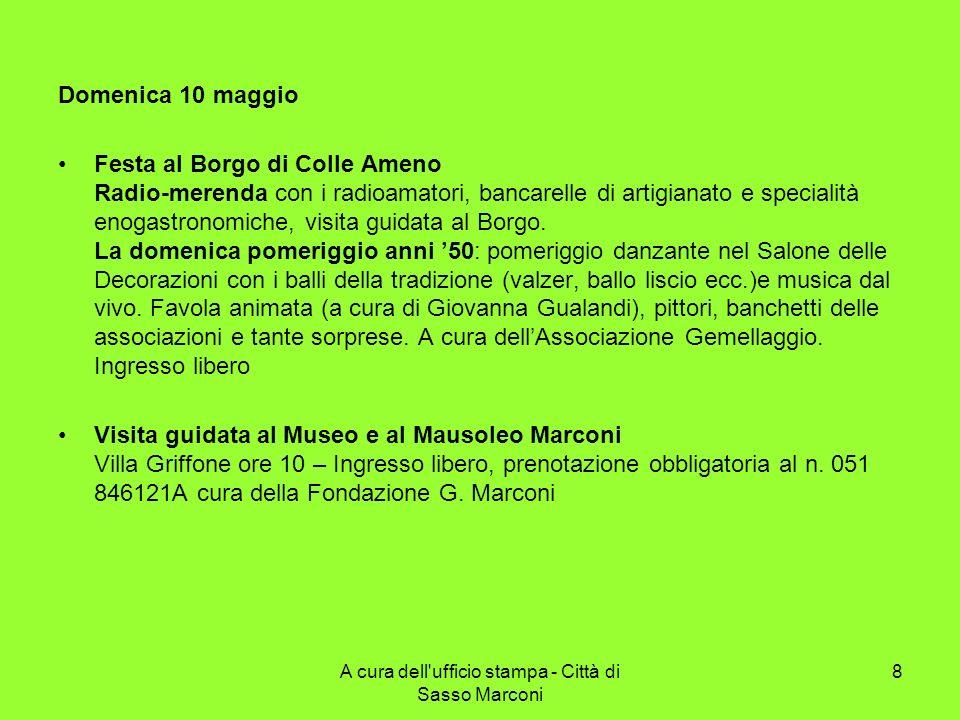 Domenica 10 maggio Festa al Borgo di Colle Ameno Radio-merenda con i radioamatori, bancarelle di artigianato e specialità enogastronomiche, visita gui