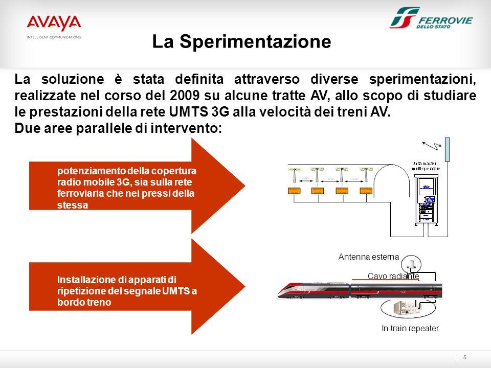 5 La soluzione è stata definita attraverso diverse sperimentazioni, realizzate nel corso del 2009 su alcune tratte AV, allo scopo di studiare le prest
