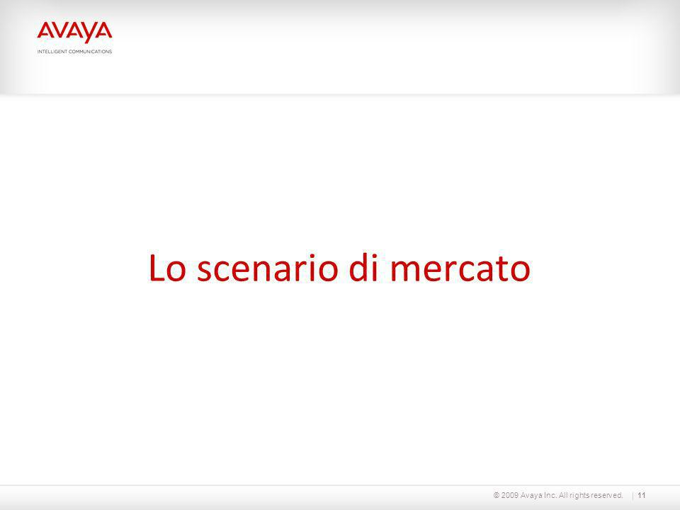 © 2009 Avaya Inc. All rights reserved.11 Lo scenario di mercato