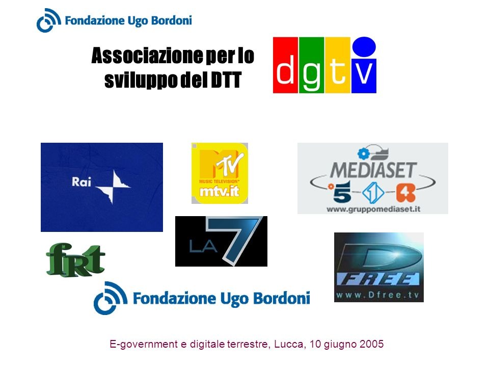 E-government e digitale terrestre, Lucca, 10 giugno 2005 Ambiente digitale Associazione costituita da: Fornitori di servizi e contenuti Sviluppatori di applicazioni Integratori di sistemi Fornitori di infrastruttura ICT
