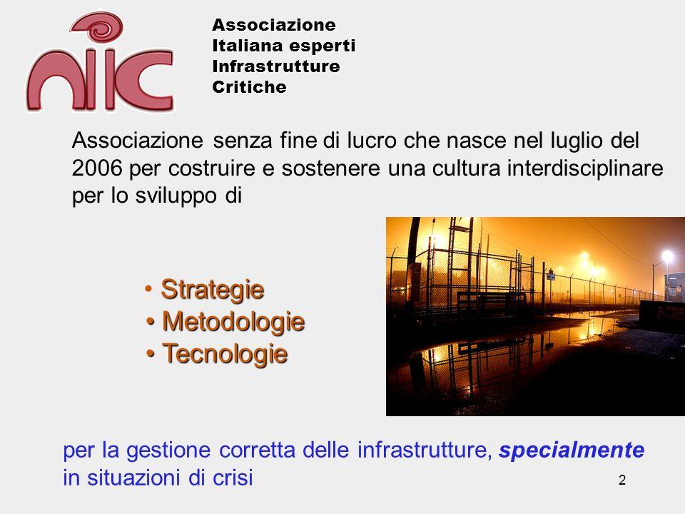 3 LAssociazione si propone di condividere esperienze e conoscenze nell ambito delle infrastrutture critiche cercando di favorire un approccio interdisciplinare e intersettoriale.