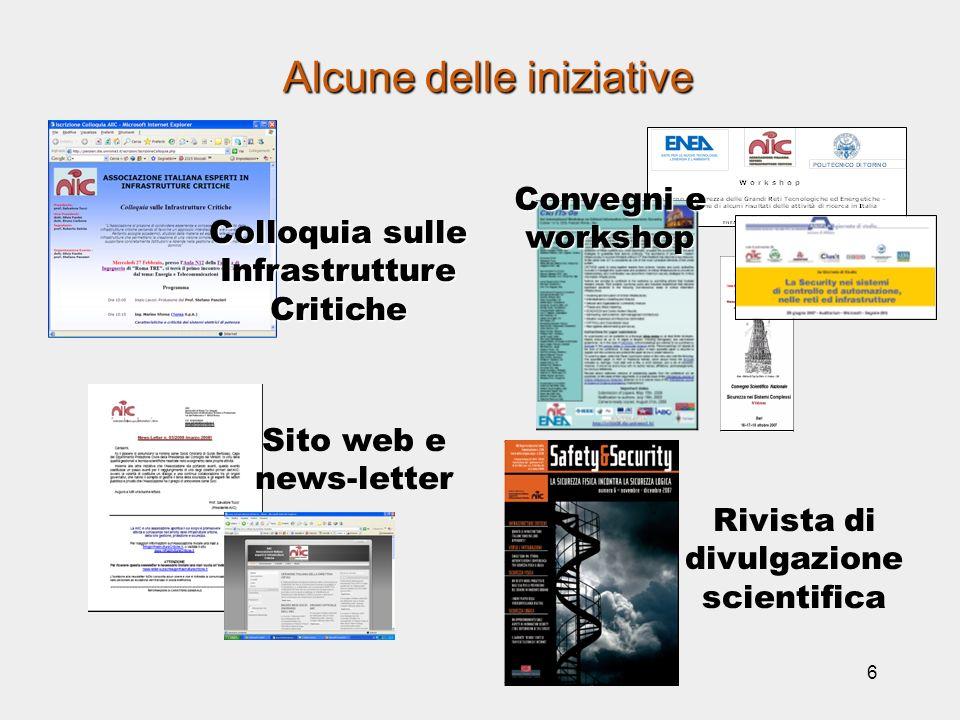 7 Colloquia sulle Infrastrutture Critiche 27 Febbraio 2008: Energia e Telecomunicazioni Ing.