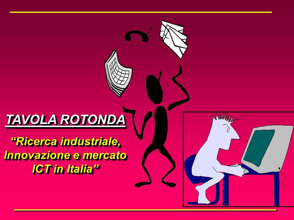 TAVOLA ROTONDA Ricerca industriale, Innovazione e mercato ICT in Italia TAVOLA ROTONDA Ricerca industriale, Innovazione e mercato ICT in Italia