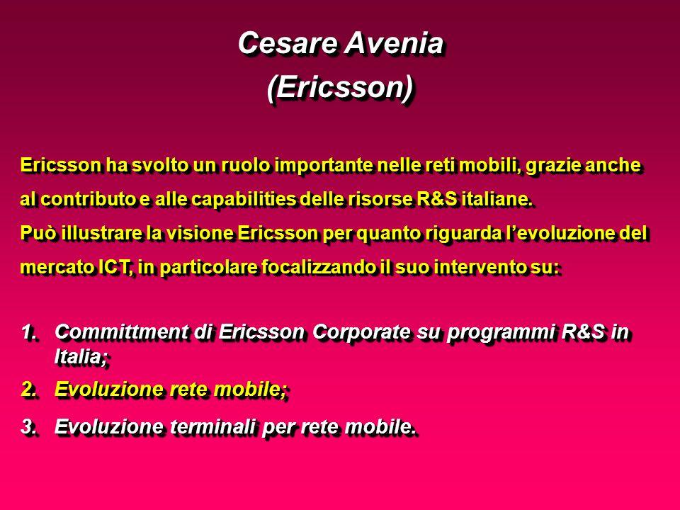 1.Committment di Ericsson Corporate su programmi R&S in Italia; 2.Evoluzione rete mobile; 3.Evoluzione terminali per rete mobile.