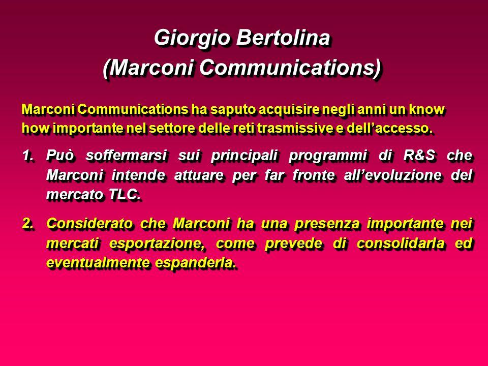 Marconi Communications ha saputo acquisire negli anni un know how importante nel settore delle reti trasmissive e dellaccesso.