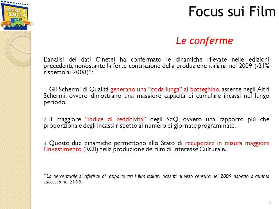 Lanalisi dei dati Cinetel ha confermato le dinamiche rilevate nelle edizioni precedenti, nonostante la forte contrazione della produzione italiana nel 2009 (-21% rispetto al 2008)*: 1.