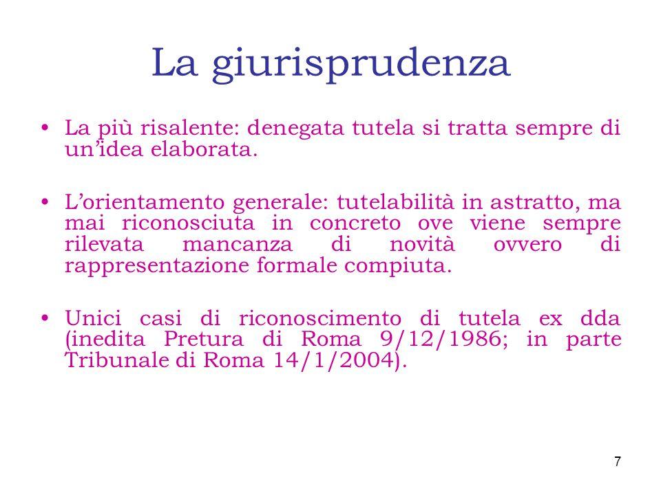 I pericoli del FORMAT PAKAGE Tribunale di Roma 13 ottobre 2005 n.