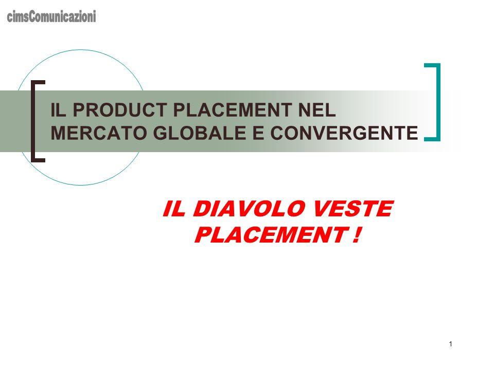 1 IL DIAVOLO VESTE PLACEMENT ! IL PRODUCT PLACEMENT NEL MERCATO GLOBALE E CONVERGENTE